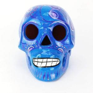 Other - Blue painter pottery sugar skull Day of the Dead